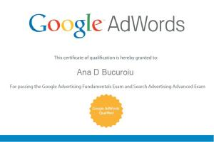 Certificare Individuala Google Adwords Ana