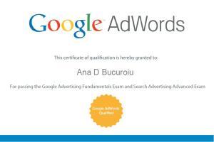 Certificare Individuala Google Adwords Ana