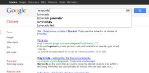 Cuvinte cheie optimizare site